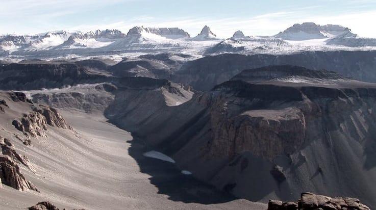 درههای خشک قطب جنوب