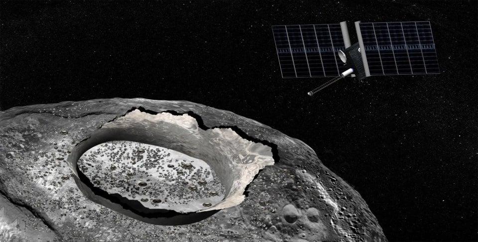 سیارک غولپیکر طلایی - تصویرسازی یک هنرمند از ماموریت دیسکاوری ناسا