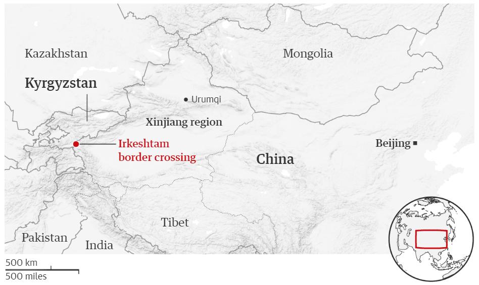 اپلیکیشن نظارت مخفی-نقشه مرزهای چین