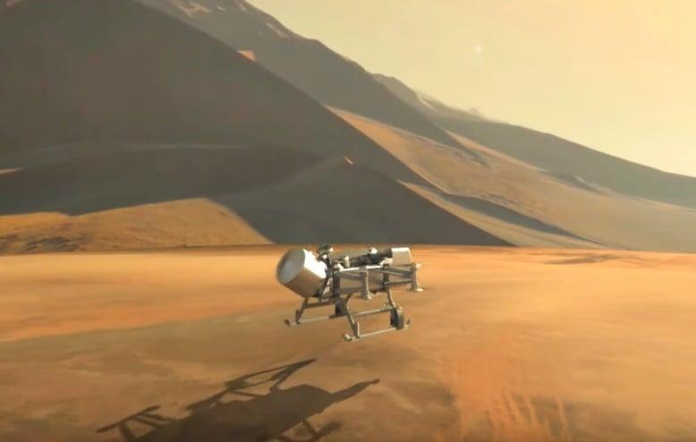 پرواز سنجاقک ناسا به سمت بزرگترین قمر زحل-هواپیمای بدون سرنشین سنجاقک با پرههای هشتگانه