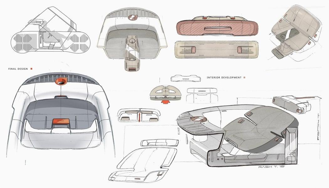 ایدههای فضای داخلی خودرو خلاقانه Volvo PV