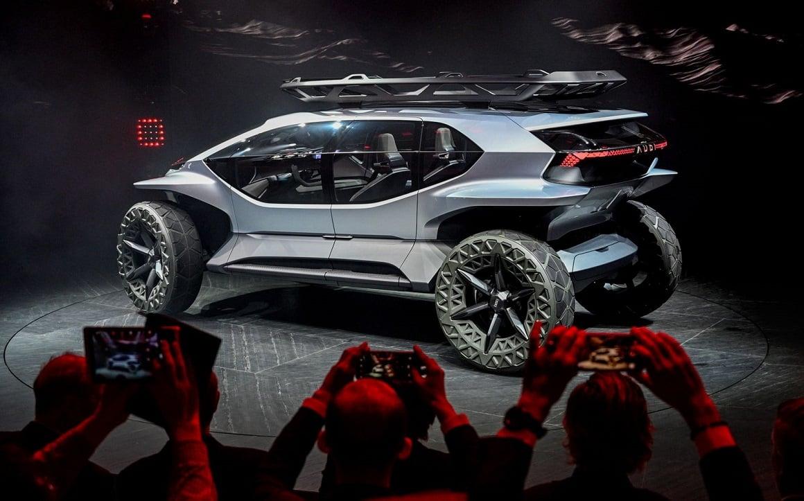 نمایش قدرت خودروهای برقی Audi AI: Trail Quattr