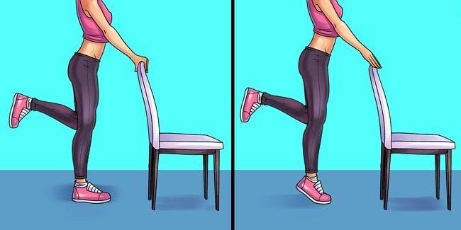 6 نرمش ضد درد پا روی پاشنه بلند شوید