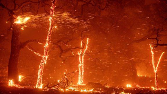 احتمال آتشسوزی و خاموشی کالیفرنیا