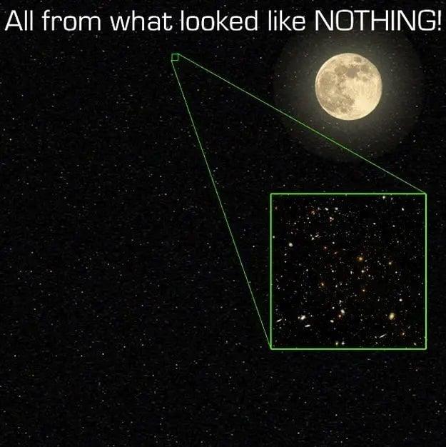 این تصویری از بخش بسیار بسیار کوچک از جهان است