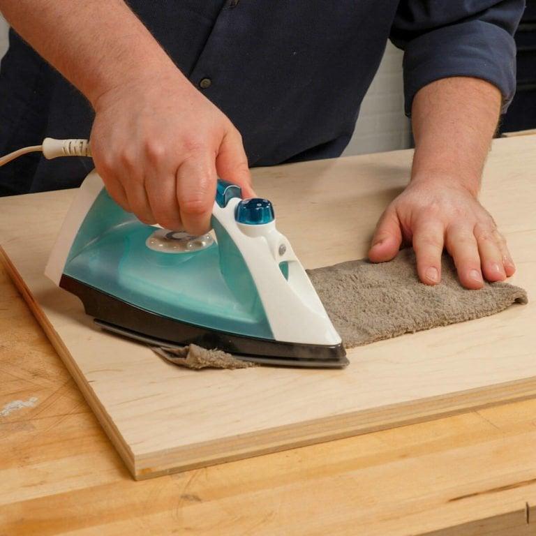 نجاری زیرکانه خانگی - اتو کردن دندانههای سطح چوب