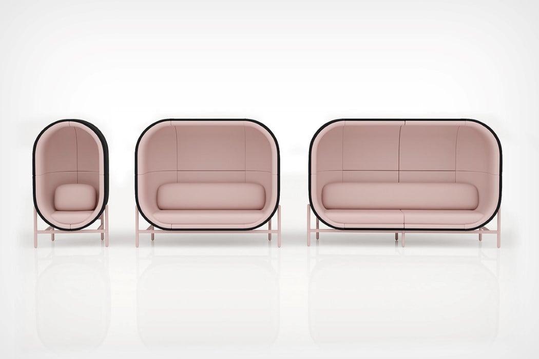 طراحی خیالی و مفهومی کاناپه - مبل کپسولی